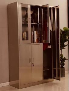 不锈钢玻璃更衣柜.