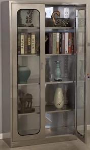不锈钢对开玻璃柜.